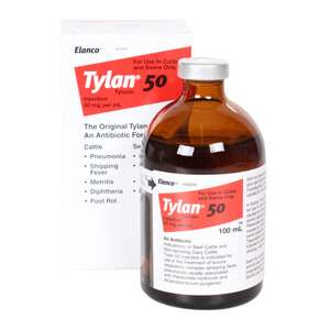 Tylan 50 Injection, 50 mg x 100 mL