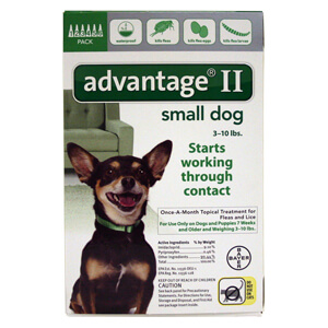 Advantage For Small Dogs And Puppies Label