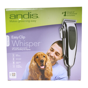Andis EasyClip Whisper 12 Piece Clipper Kit