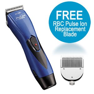 Andis ProClip Pulse Ion Clipper w/ FREE Trimmer, Blue