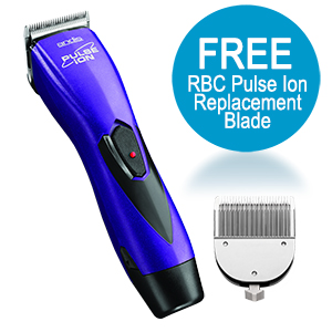 Andis ProClip Pulse Ion Clipper w/ FREE Trimmer, Purple