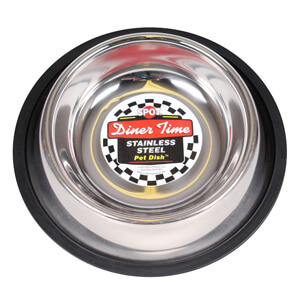 Dinner Time Stainless Steel Pet Dish, 16 oz