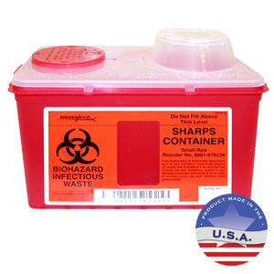 Sharps Biohazard Container, 1 gallon