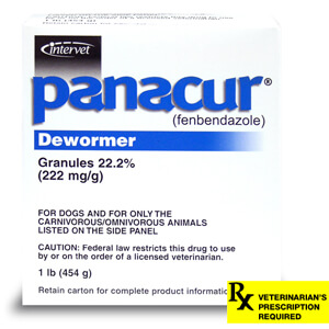 Panacur Dewormer Granules Rx 22.2% for Dogs