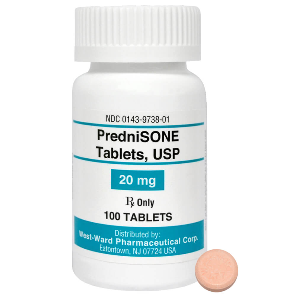 PredniSONE Rx Tablets, 20 mg x 100 ct