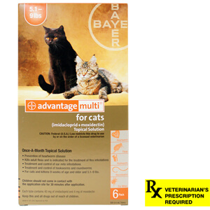 Advantage Multi Rx for Cats, 5.1-9 lbs, 6 Month (Orange)