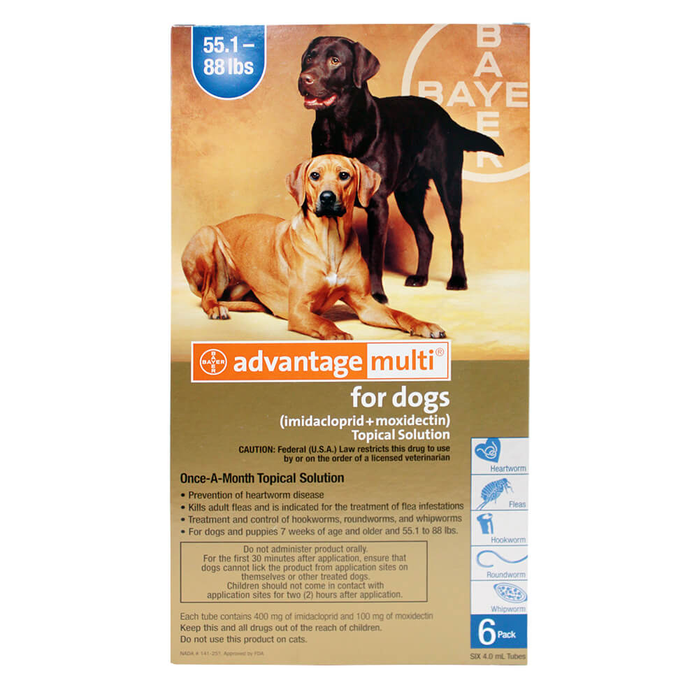Advantage Multi For Dogs 55.1-88 Lbs 6 Month Blue