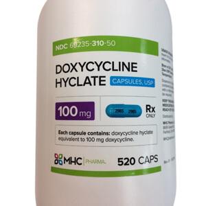 Rx Doxycycline, 100 mg, 520 ct