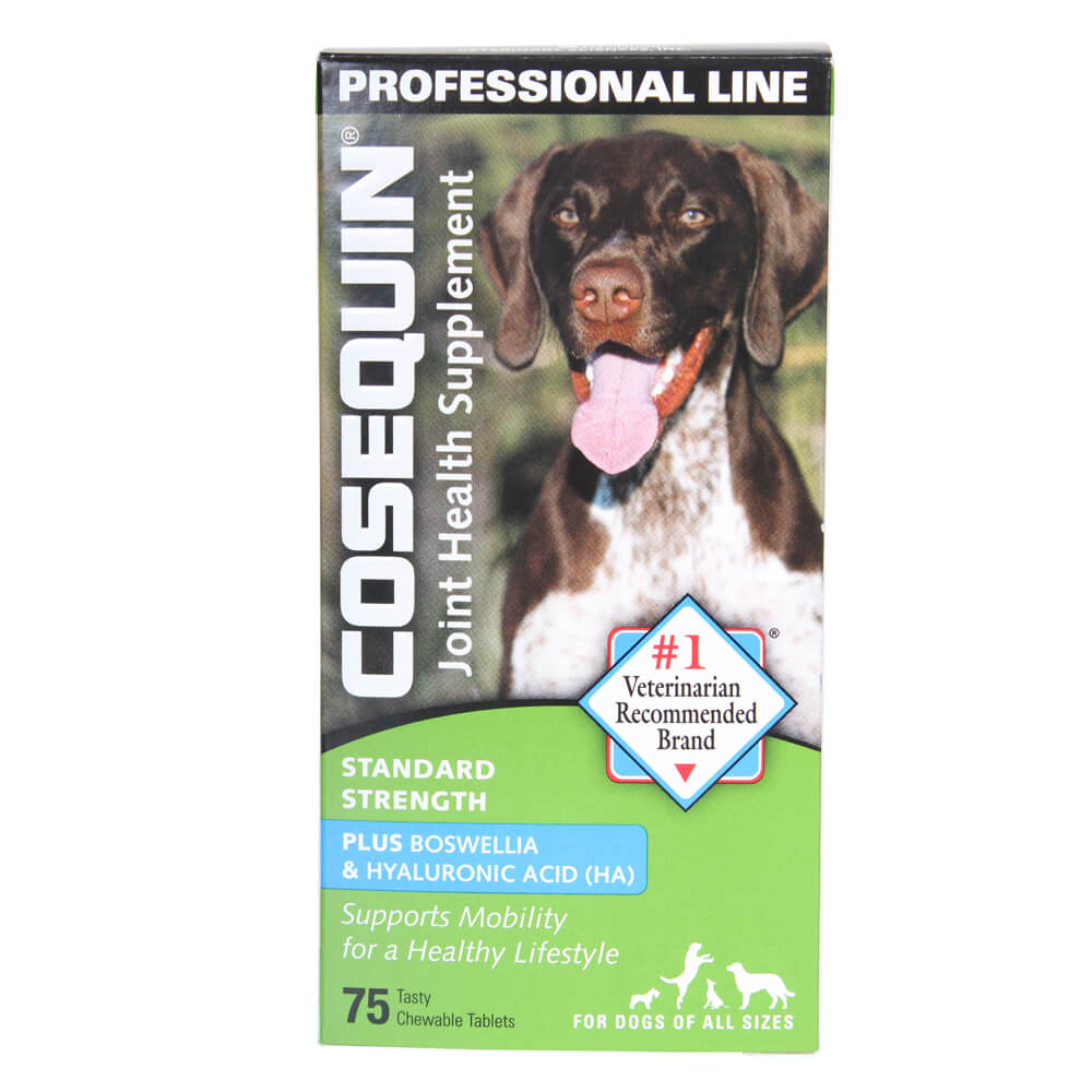 cosequin standard strength plus boswellia and hyaluronic acid for dogs professional line 75 ct. Black Bedroom Furniture Sets. Home Design Ideas