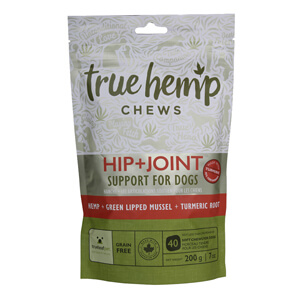True Hemp Chews Hip + Joint Support for Dogs, 7 oz, 40 ct
