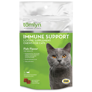 Immune Support L-Lysine Supplement Chews for Cats, 30 ct