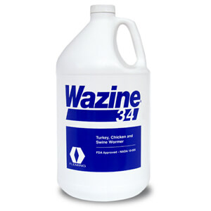 Wazine 34 for Turkey, Chicken and Swine Wormer, 1 Gallon