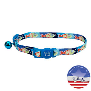 Safe Cat Fashion Breakaway Collar with Bell for Cats, 3/8