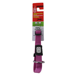 DogIt Adjustable Nylon Collar for Medium Dogs, Purple