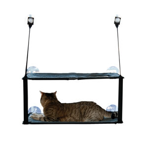 EZ Mount Window Double Stack Kitty Sill Gray 12