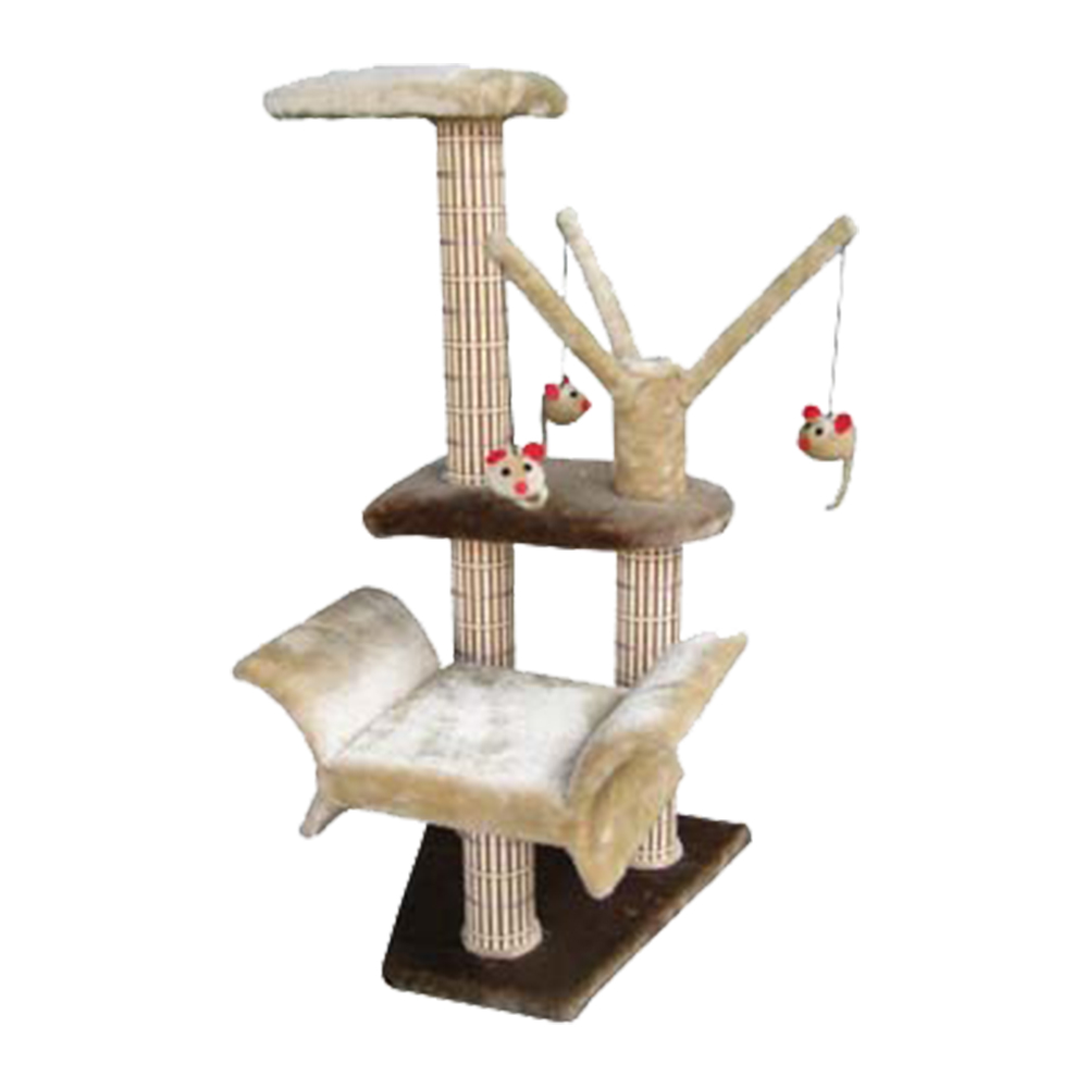 Cat life lounger with play tree for Chaise lounge cat scratcher