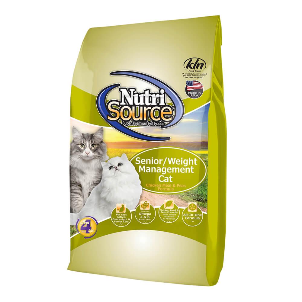 Nutrisource Senior Weight Management Cat Food Lambert