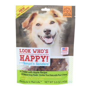 Look Who's Happy Tempt'n Tenders Treats, Chicken with Apple, 5 oz