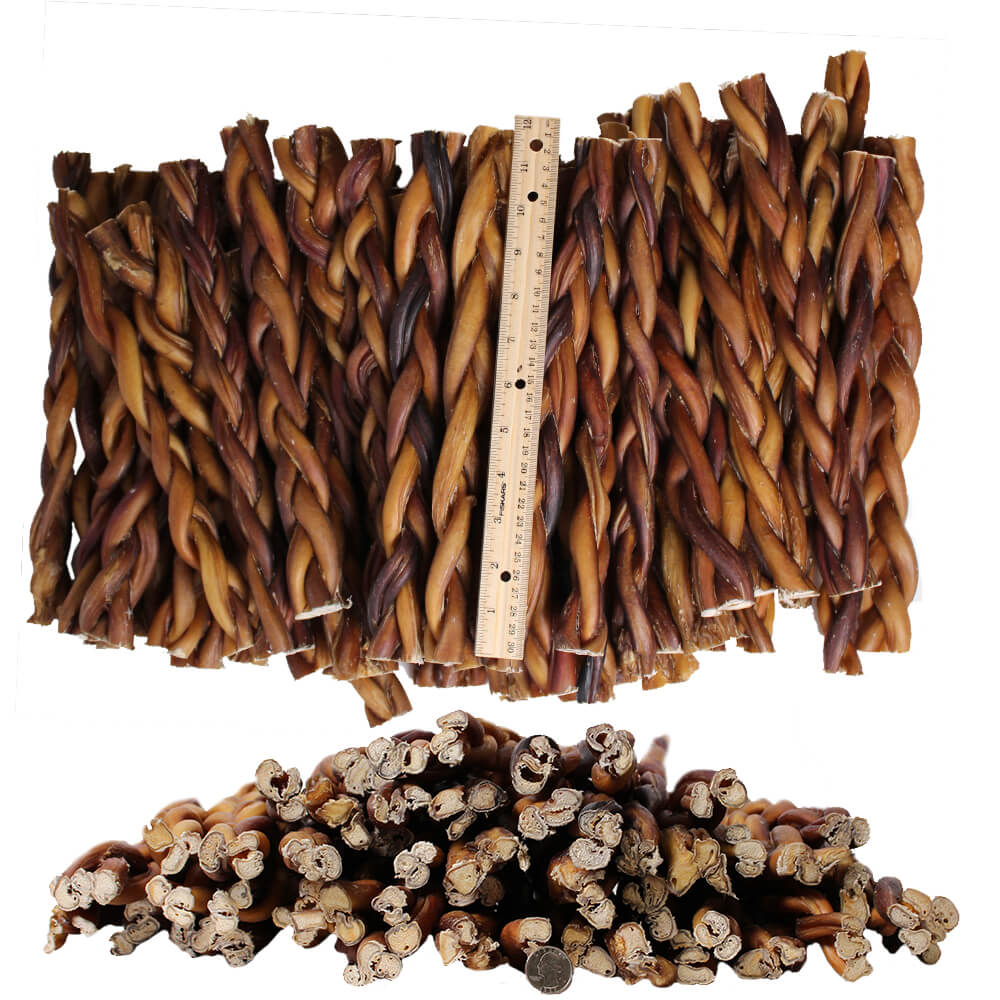 braided bully sticks for dogs 12 premium all natural pizzle chews 100 pk. Black Bedroom Furniture Sets. Home Design Ideas