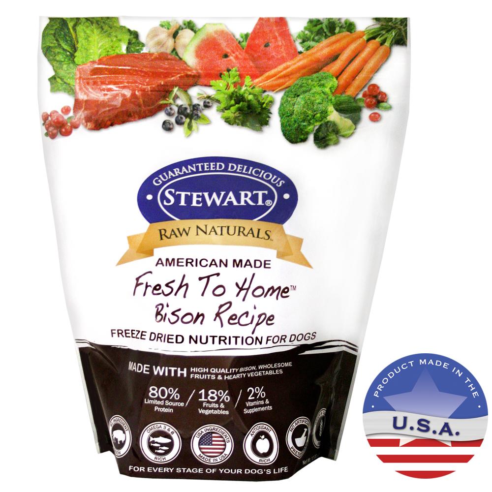 Stewart Raw Naturals Bison Recipe Freeze Dried Dog Food