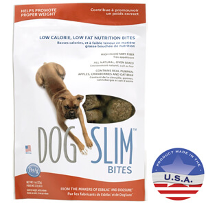 DogSlim Low Calorie (Pumpkin) Nutritional Bites for Dogs 8oz