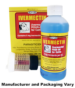 ORM-D Durvet Ivermectin Pour-On for Cattle, 250 mL