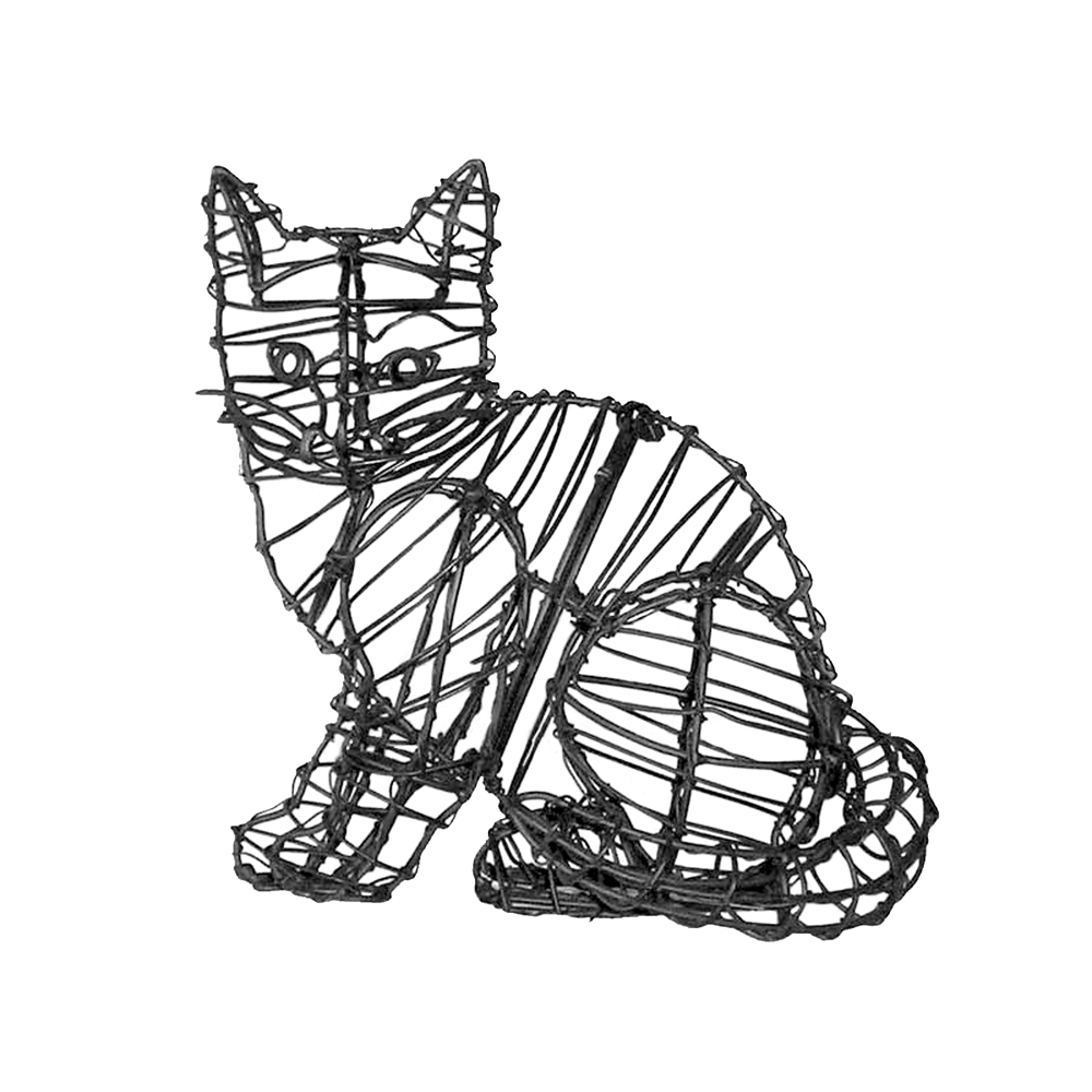 green piece wire art topiary  animal wire art