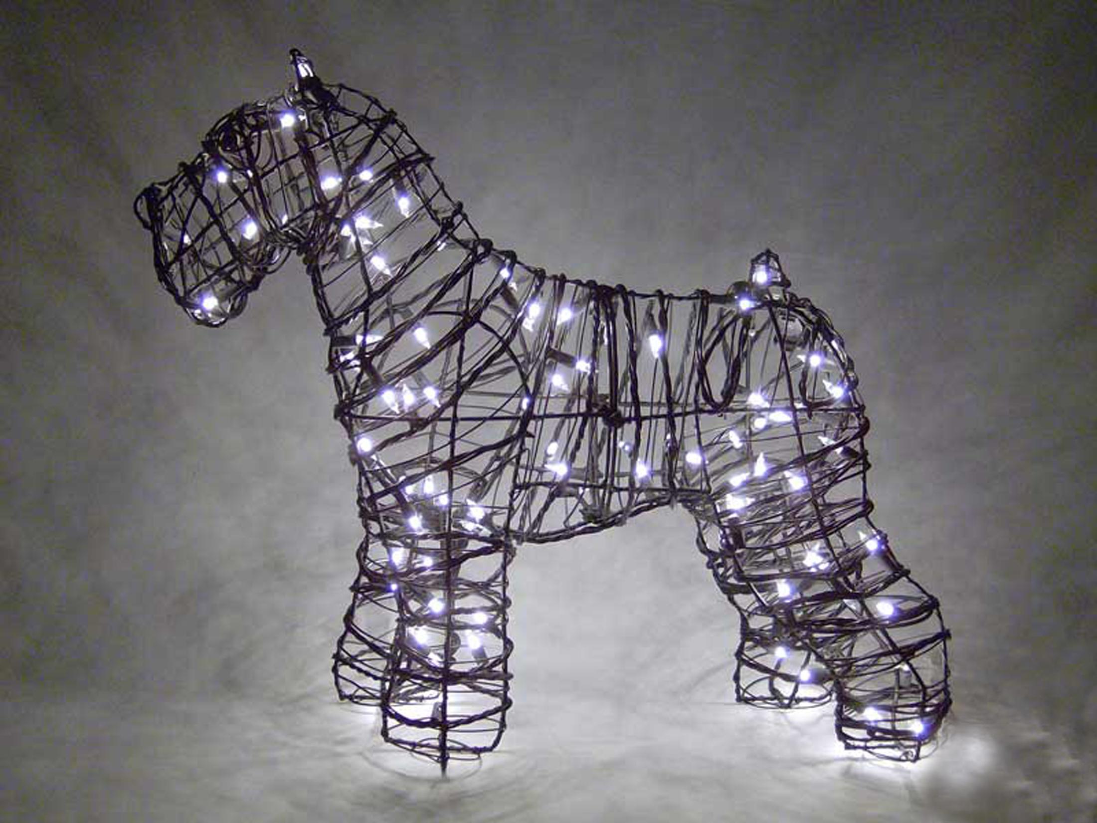 Green Piece Wire Art Topiary, Animal Wire Art | Lambert Vet Supply