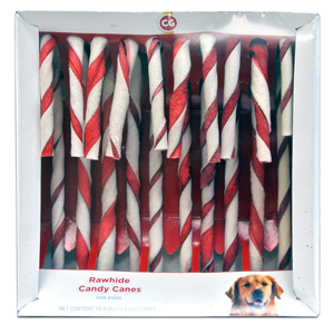 Rawhide Candy Canes