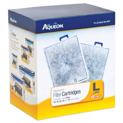 Aqueon Power Filter Cartridge Large - 12 Pack
