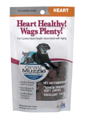 Gray Muzzle Heart Healthy! Wags Plenty! 60 Count - Usa