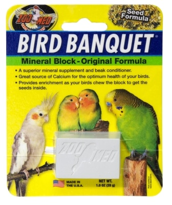 Bird Banquet Mineral Block - Small