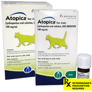 Atopica Rx for Cats, 100mg/ml
