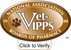 Click here to verify that our VETERINARY-VERIFIED INTERNET PHARMACY PRACTICE SITESCM online veterinary pharmacy services are accredited