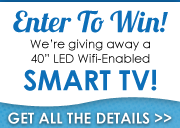 Enter to win a 40-inch WiFi-enabled LED TV!