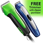 Andis Excel 5 spd Clipper (Spring Green) + FREE ProClip Lithium Ion Trimmer
