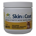 Skin & Coat Omega-3 Soft Chews for Cats, 60 ct