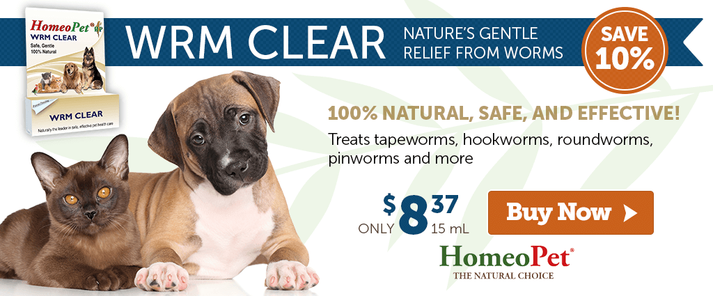 Save 10% on HomeoPet WRM Clear