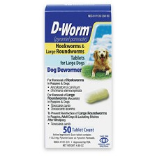 D-Worm Tablets for Large Dogs