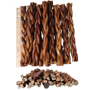 braided bully sticks for dogs 12 premium all natural pizzle chews 12 pk. Black Bedroom Furniture Sets. Home Design Ideas