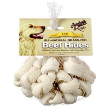 "Rawhide Brand 2"" Natural Safety Knot Bones 12 pack"