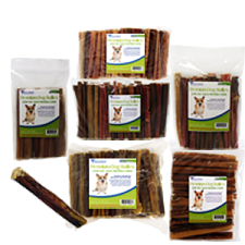 "Bully Sticks for Dogs 6"", Premium All Natural Dog Pizzle Chews"