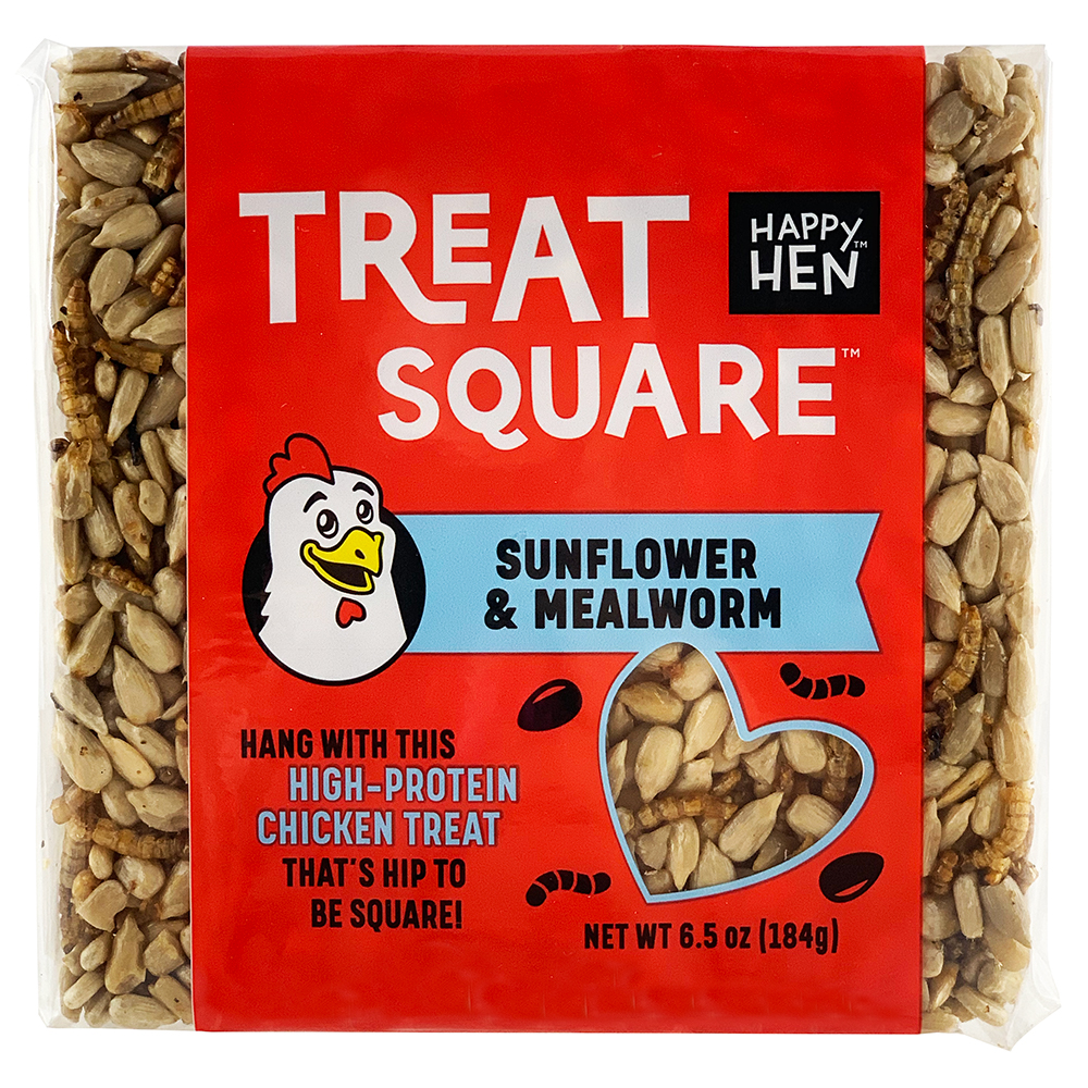 Treat Square Mealworm & Sunflower, 6.5 oz