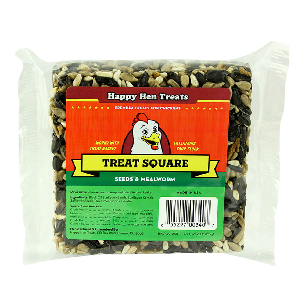 Treat Square Mealworm & Seed, 6 oz