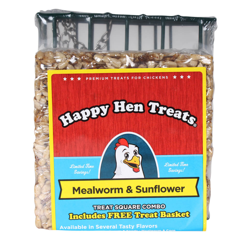 Treat Square (Mealworm & Sunflower) + FREE Treat Basket