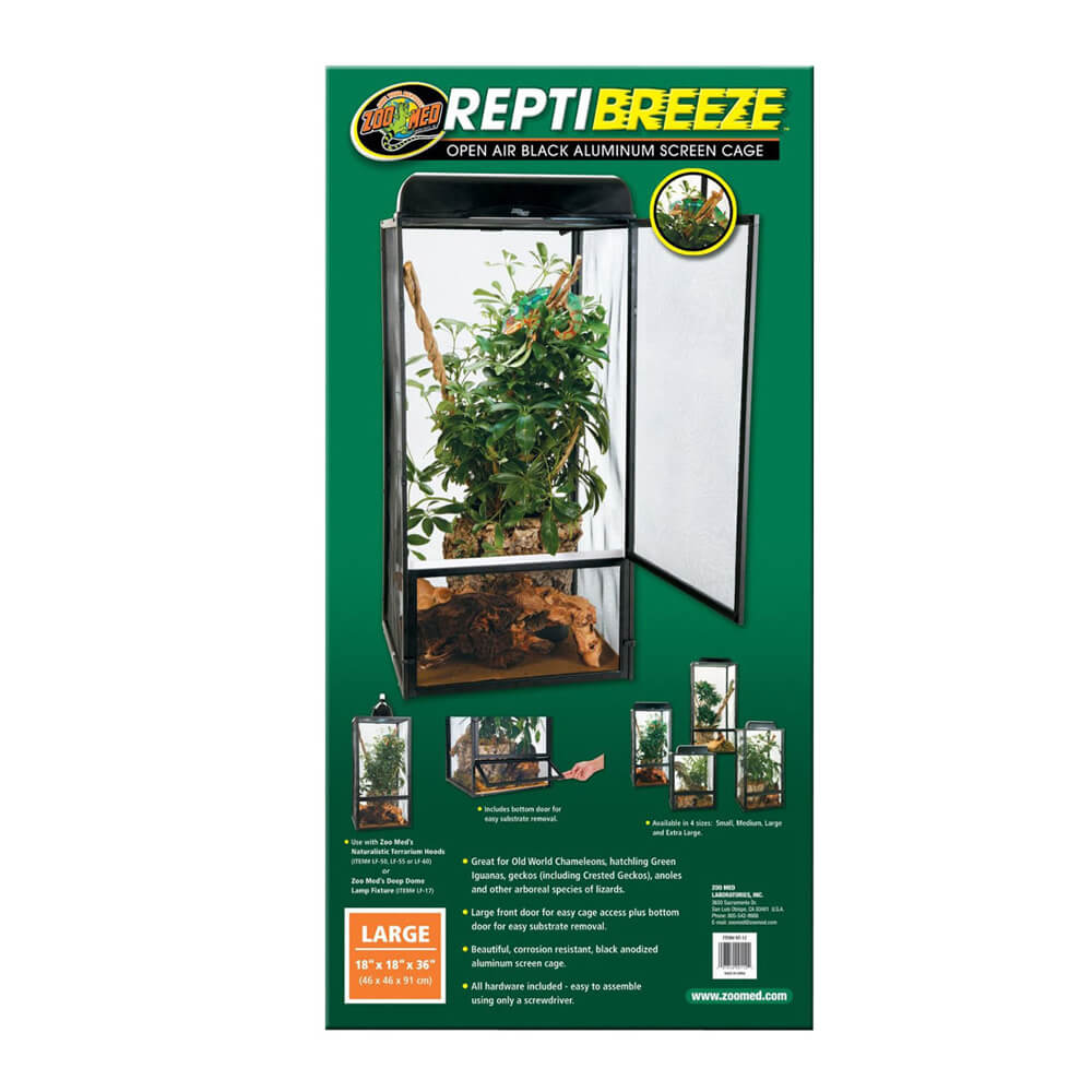 Reptibreeze Aluminum Screen Cage, Large