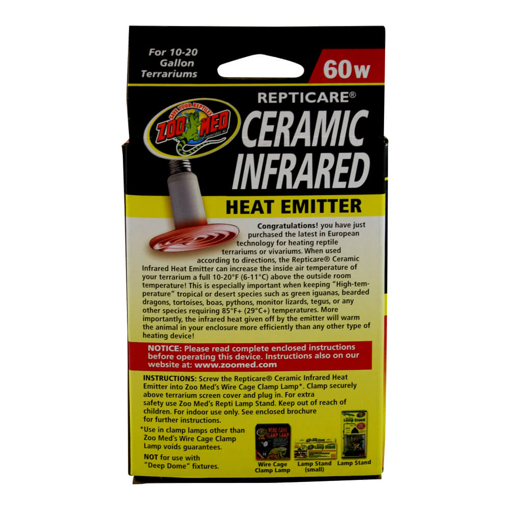 Ceramic Heat Emitter 60 Watt 10-20 Gallon