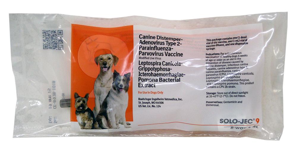Solo Jec 9 Dog Vaccine Beohringer Ingelheim Lambert Vet Supply