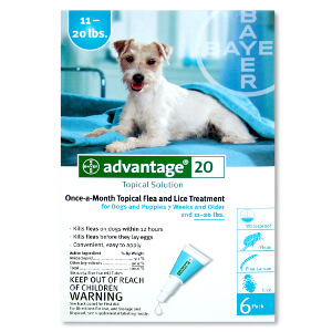 Advantage for Dogs, 11-20 lbs, 6 month
