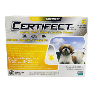 Certifect for Dogs, 5-22 lbs, 6 Month (Yellow)